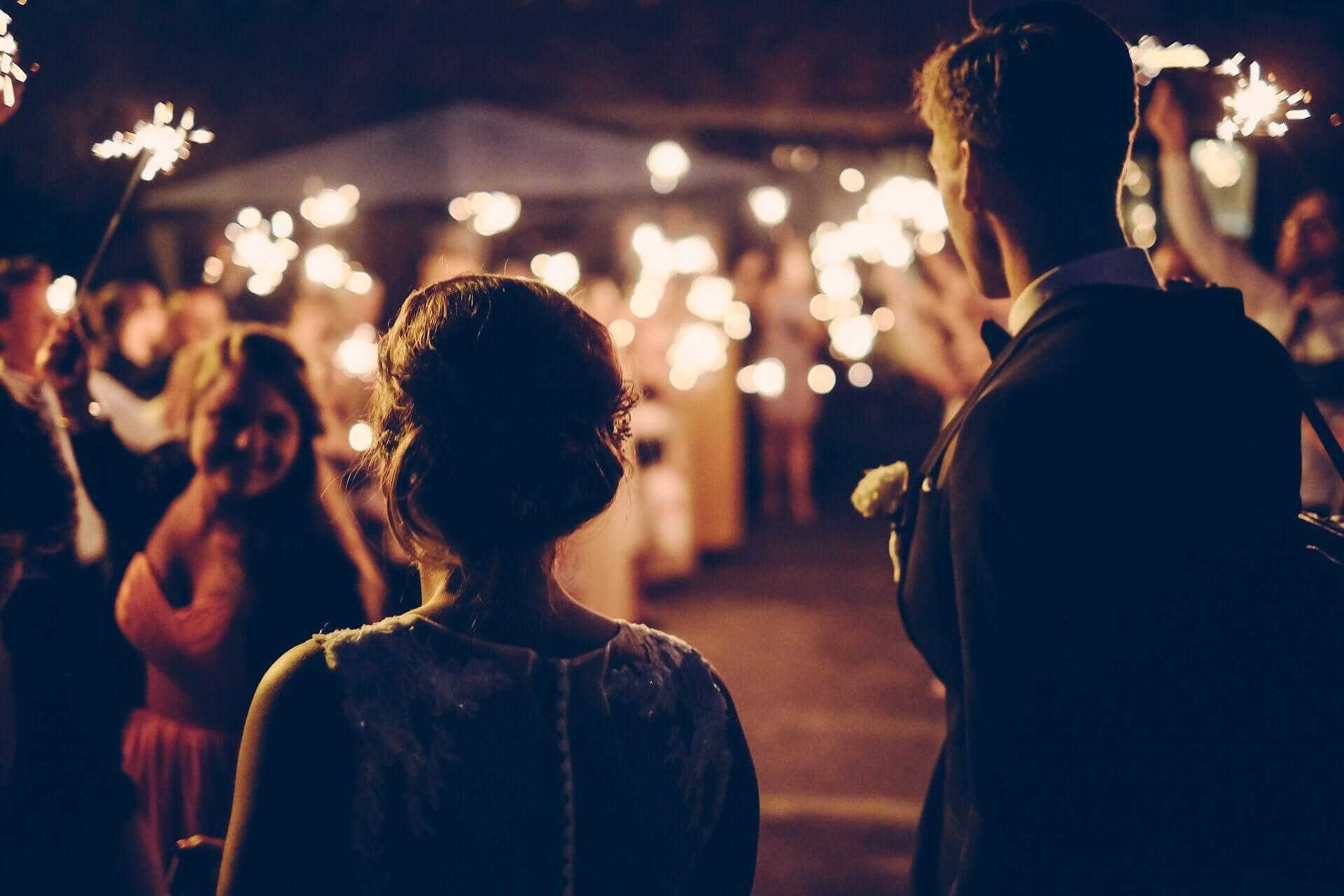mariés fête