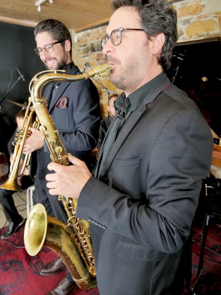 Saxophoniste tenor swing